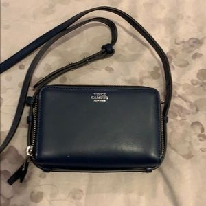 Navy purse with silver accents